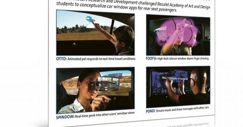 ინტერაქტიული ფანჯრები მომავლის  ავტომობილებისათვის