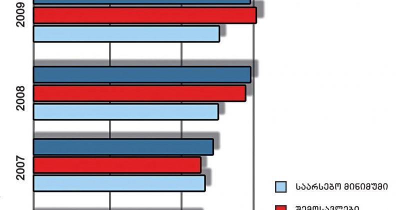 შემოსავლები, ხარჯები და  საარსებო მინიმუმი