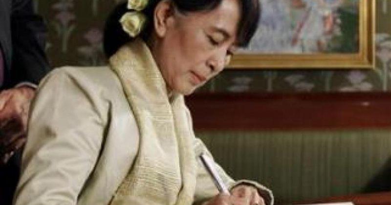 აუნ სან სუ ჩის ოსლოში ნობელის პრემია გადასცეს