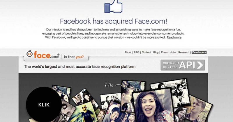 face.com სოციალური გიგანტის ნაწილი ხდება