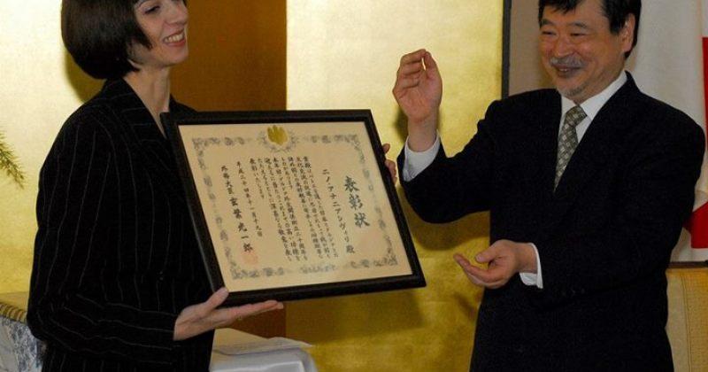 ნინო ანანიაშვილმა იაპონიის მთავრობის საპატიო ჯილდო მიიღო
