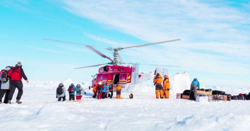 ყინულში ჩარჩენილი რუსული ხომალდიდან ყველა მგზავრი ევაკუირებულია