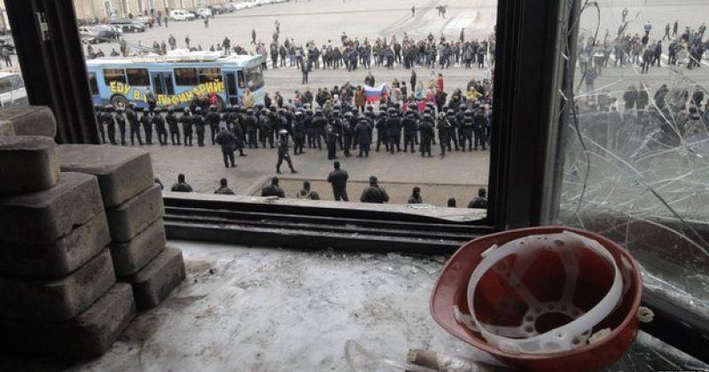 ხარკოვში სამართალდამცველებმა ადმინისტრაციული შენობა გაათავისუფლეს