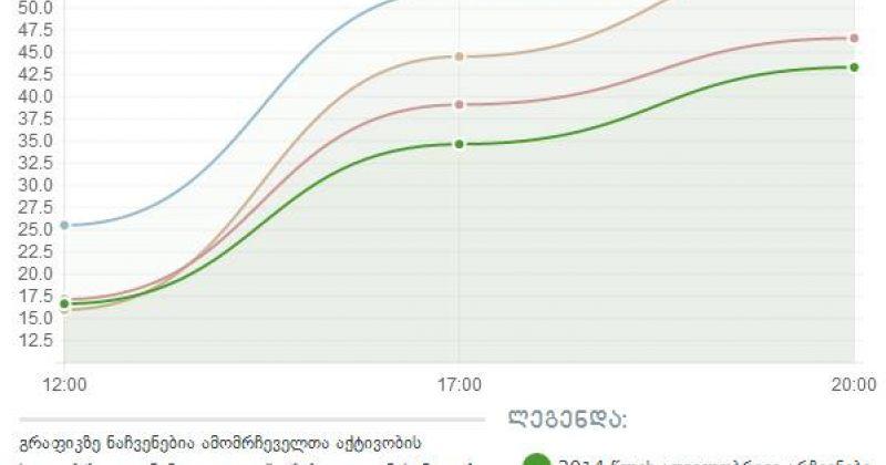 ცესკო: ამომრჩეველთა აქტივობამ საქართველოს მასშტაბით 43.3% შეადგინა