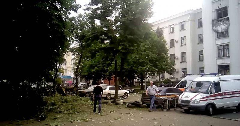 ლუგანსკში, ტერორისტების მიერ დაკავებულ შენობაში აფეთქება მოხდა