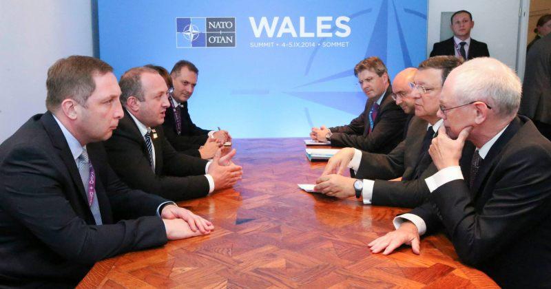 მარგველაშვილი ევროპული საბჭოსა და ევროკომისიის პრეზიდენტებს შეხვდა
