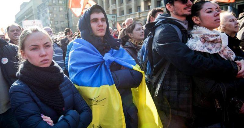 რუსეთში მშვიდობის მარშზე უკრაინის კრიზისში კრემლის ჩართულობას აპროტესტებენ