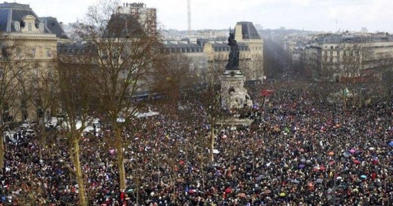 პარიზში სოლიდარობის მარში მიმდინარეობს