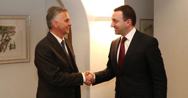 პრემიერმინისტრი შვეიცარიის საგარეო საქმეთა მინისტრს შეხვდა