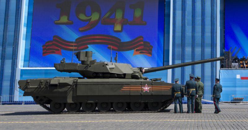 9 მაისის აღლუმის რეპეტიციაზე უახლესი რუსული ტანკი გაფუჭდა