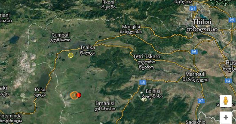 საქართველოში ორი მიწისძვრა მოხდა, მათი ეპიცენტრი დმანისის რაიონში იყო