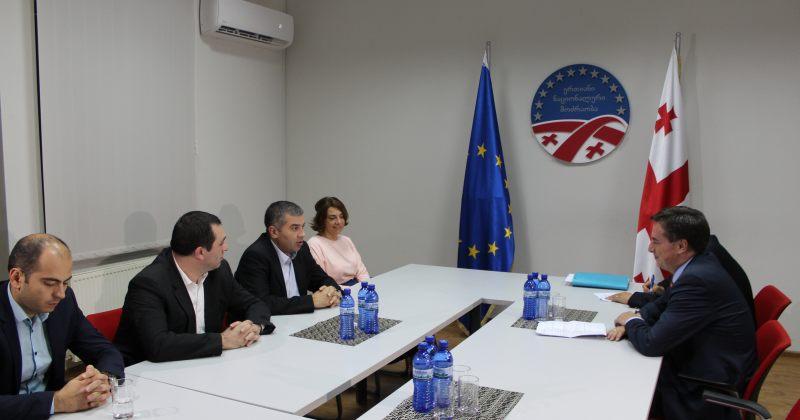 ენმ-ის წევრები EPP-ის ვიცეპრეზიდენტს და საერთაშორისო მდივანს შეხვდნენ
