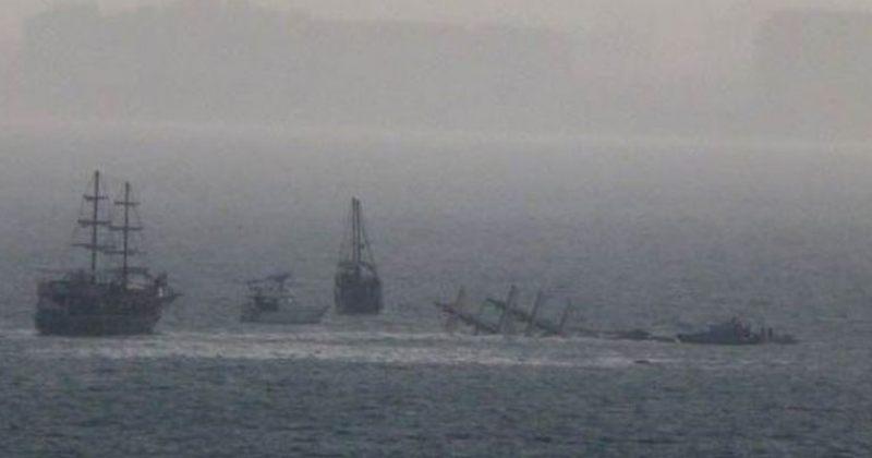 თურქეთში ანტალიის სანაპიროსთან ტურისტული გემი ჩაიძირა