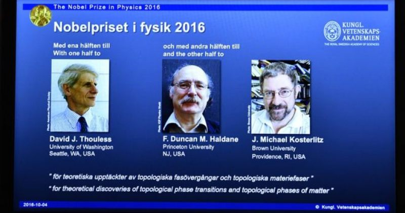ნობელის პრემია ფიზიკის დარგში 3 ბრიტანელ მეცნიერს გადაეცემა
