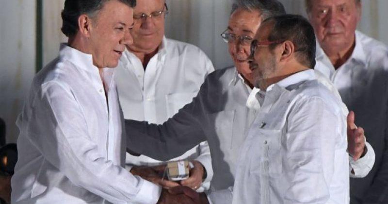 ნობელის პრემია მშვიდობის დარგში კოლუმბიის პრეზიდენტმა ხუან მანუელ სანტოსმა მიიღო