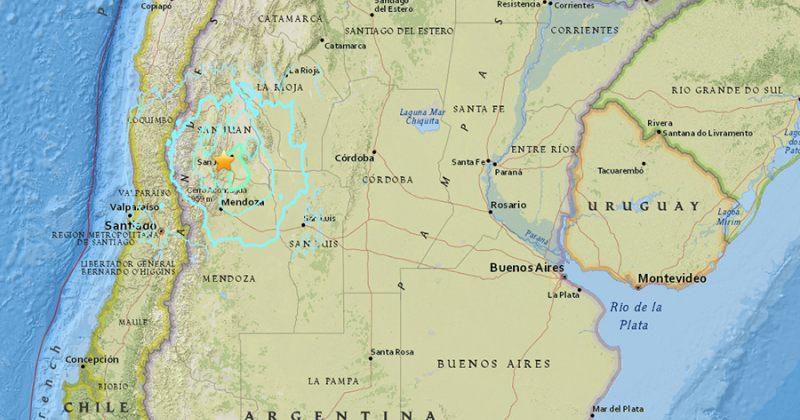 არგენტინაში 6.4 მაგნიტუდის მიწისძვრა მოხდა