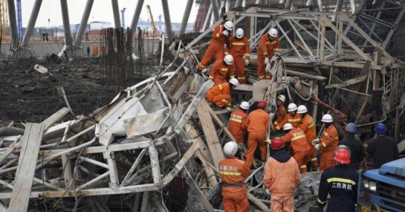 ჩინეთში მშენებარე ელექტროსადგურის ჩამონგრევას სულ მცირე 40 ადამიანი ემსხვერპლა