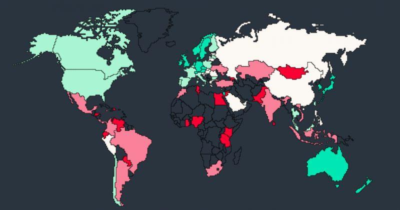 Bloomberg-ის გლობალური რისკების ინდექსში საქართველო ერთ-ერთი ყველაზე სარისკო ქვეყანაა