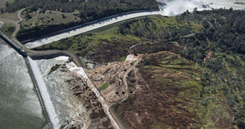 კაშხლის ჩამონგრევის საფრთხის გამო, კალიფორნიაში ევაკუაცია გამოცხადდა