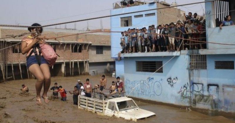 პერუში უამინდობის შედეგად გამოწვეულ წყალდიდობას სულ მცირე 72 ადამიანი ემსხვერპლა