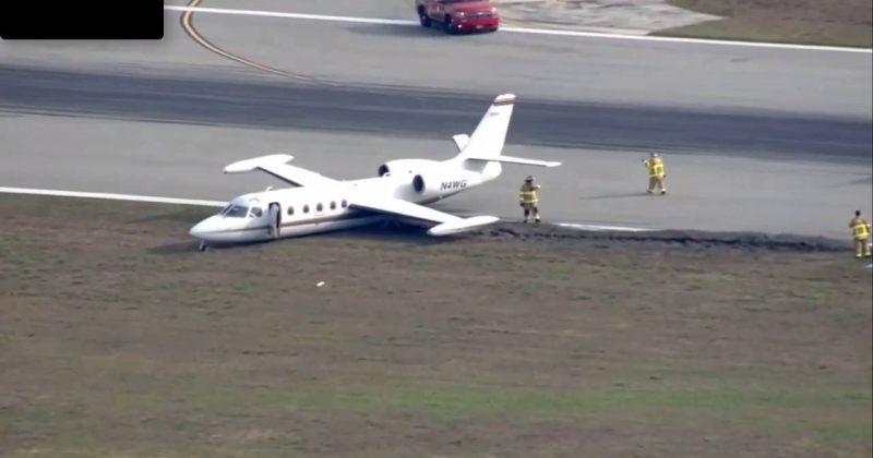 ფლორიდის აეროპორტში თვითმფრინავი ავარიულად დაეშვა
