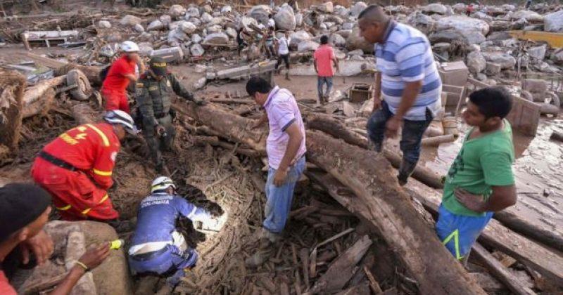 კოლუმბიაში ძლიერი წვიმების შედეგად მოსულ მეწყერს სულ მცირე 254 ადამიანი ემსხვერპლა