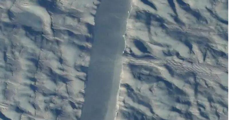 NASA-მ გრენლანდიის ყინულებზე აღმოჩენილი ახალი ნაპრალების ფოტოები გამოაქვეყნა
