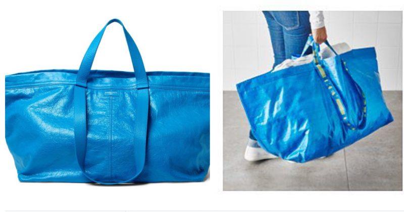 Balenciaga-ს $2145-იანი ჩანთა, რომელიც IKEA-ს 99-ცენტიან ჩანთას ჰგავს