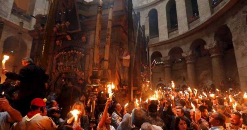 იერუსალიმის საპატრიარქომ წმიდა ცეცხლის რიტუალი აღასრულა