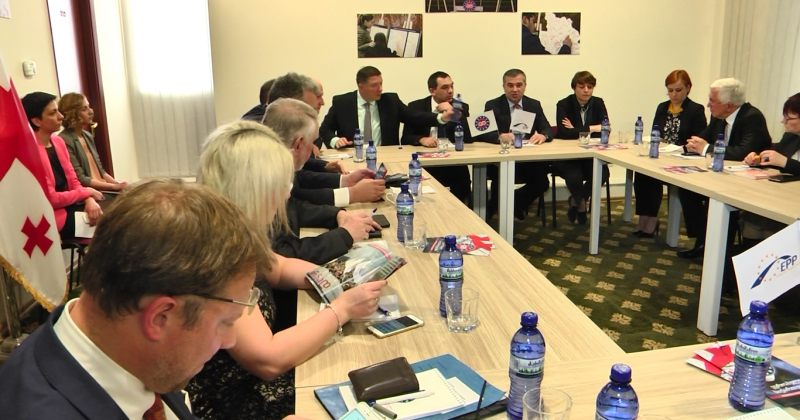 ევროპული საქართველოს წევრები EPP-ის დელეგაციას შეხვდნენ