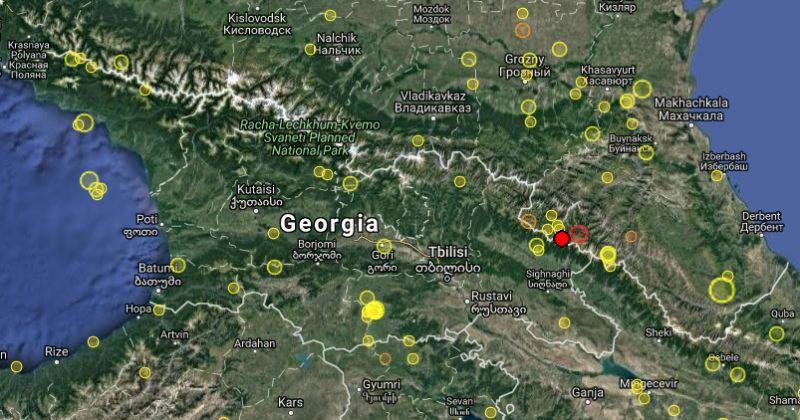საქართველოში 4.7 მაგნიტუდის მიწისძვრა მოხდა