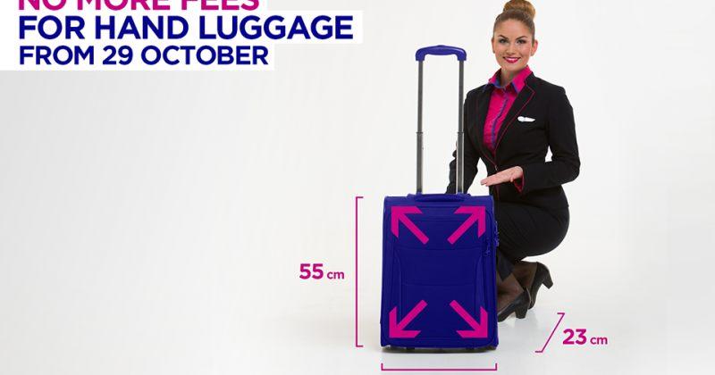 WizzAir-ი დიდი ზომის ხელბარგისთვის გადასახადს აუქმებს