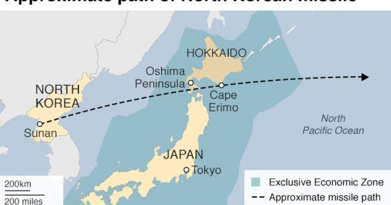 ჩრდილო კორეულმა რაკეტამ იაპონიას გადაუფრინა