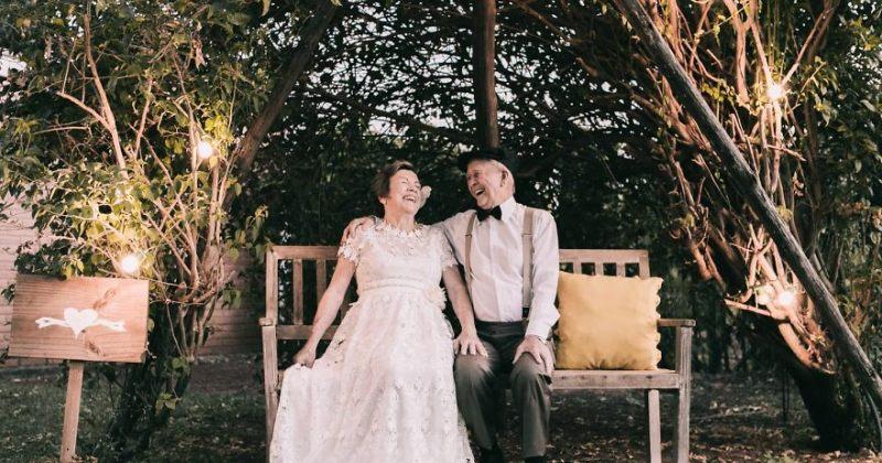 წყვილმა, რომელსაც ქორწილის სამახსოვრო ფოტო არ ჰქონდა, 60 წლის მერე ფოტოსესია მოაწყო