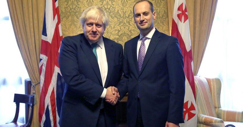 ბორის ჯონსონი: ბრიტანეთი დაინტერესებულია საქართველოსთან თანამშრომლობით
