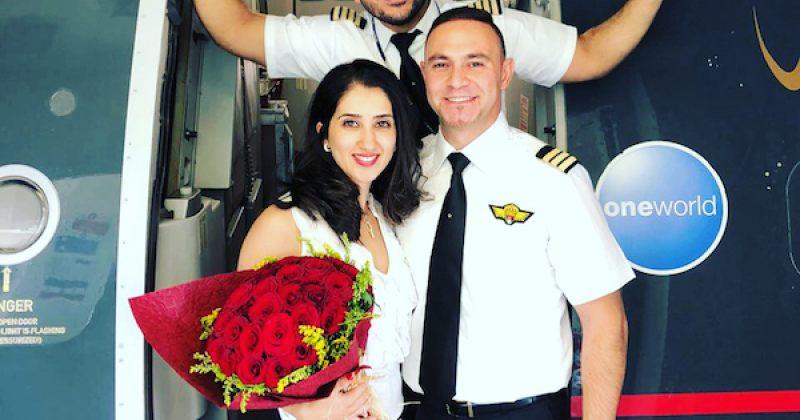 ROYAL JORDANIAN-ის პილოტმა შეყვარებულს ხელი თვითმფრინავში სთხოვა