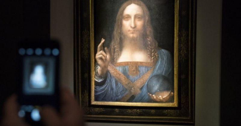 ლეონარდო და ვინჩის ნახატი კრისტის აუქციონზე რეკორდულ ფასად, $450 მლნ-ად გაიყიდა