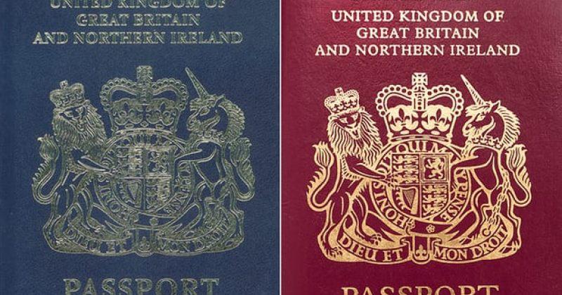 Brexit-ის შემდეგ, ბრიტანული წითელი პასპორტები ლურჯით ჩანაცვლდება