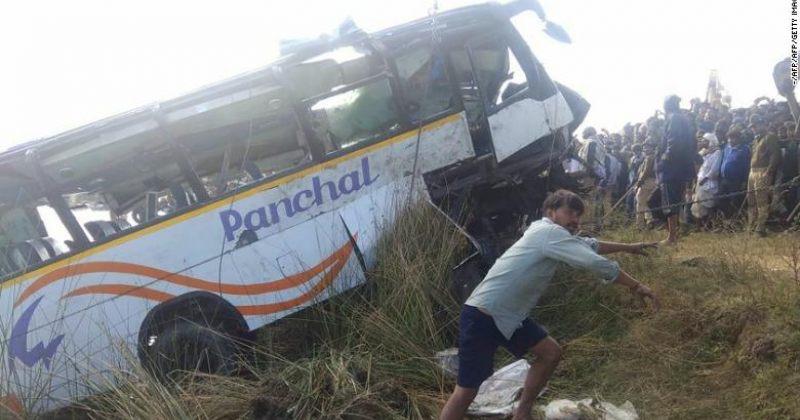 ინდოეთში ავტოსაგზაო შემთხვევას სულ მცირე 33 ადამიანის სიცოცხლე ემსხვერპლა