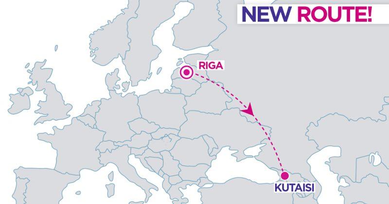 ქუთაისი - რიგა -WizzAir ახალი რეისის შესრულებას მარტიდან დაიწყებს
