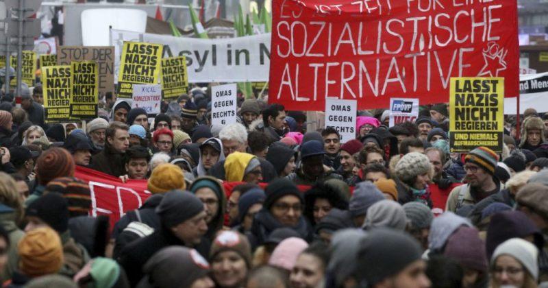 ავსტრიაში ახალი სამთავრობო კოალიციის წინააღმდეგ საპროტესტო აქციები გაიმართა