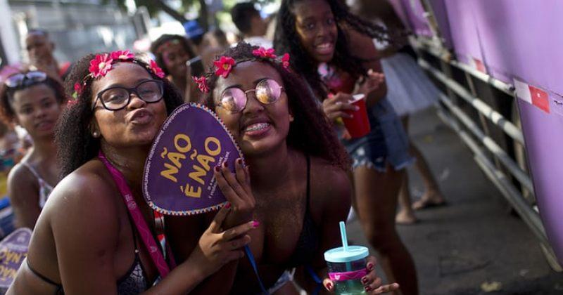 რიოს კარნავალის გზავნილები ქალთა მიმართ ძალადობის წინააღმდეგ