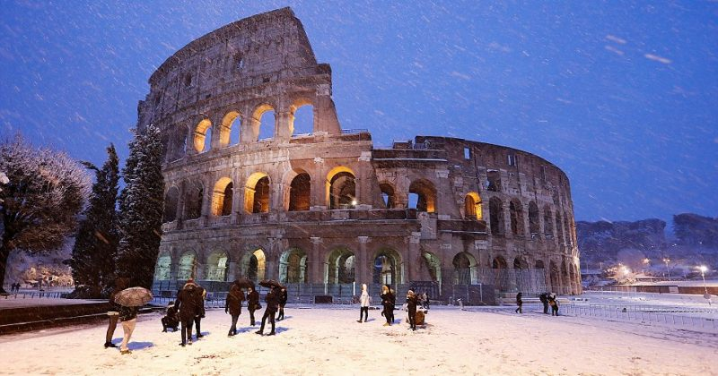 2012 წლის შემდეგ, რომში თოვლი პირველად მოვიდა [გალერეა]