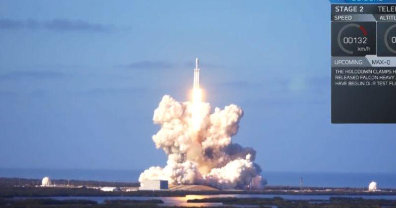 გიგანტური ხომალდი Falcon Heavy კოსმოსში გაუშვეს - აფრენამ წარმატებით ჩაიარა