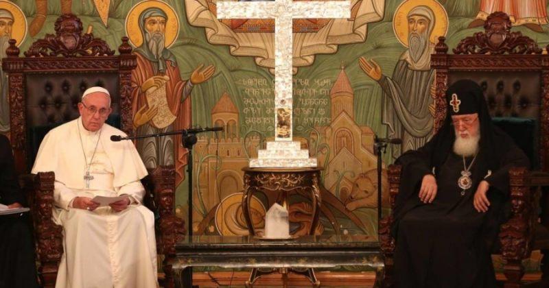 ილია მეორე რომის პაპ ფრანცისკესპაპობის 5 წლისთავს ულოცავს