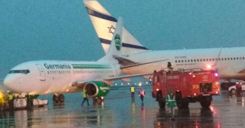 თელ-ავივის აეროპორტში ორი თვითმფრინავი ერთმანეთს დაეჯახა [VIDEO]