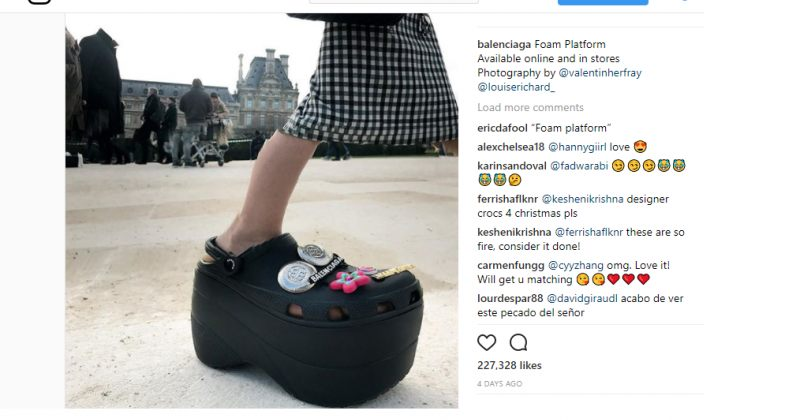 დემნა გვასალიას ახალი ფეხსაცმელიBalenciaga-სთვის [ფოტო]