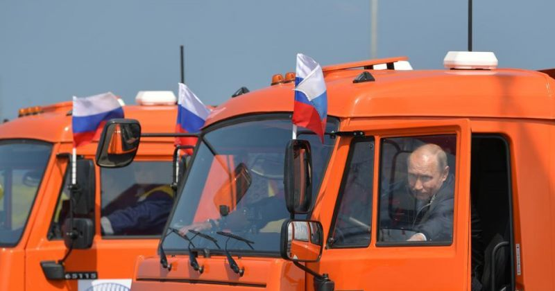 ვლადიმირ პუტინმა რუსეთისა და ანექსირებული ყირიმის დამაკავშირებელი ხიდი გახსნა