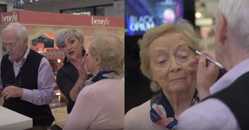 84 წლის კაცმა, თავისი უსინათლო 83 წლის ცოლისთვის მაკიაჟის გაკეთება ისწავლა