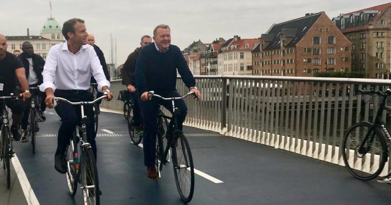 დანიის პრემიერმა საფრანგეთის პრეზიდენტს კოპენჰაგენი ველოსიპედით დაათვალიერებინა [ვიდეო]